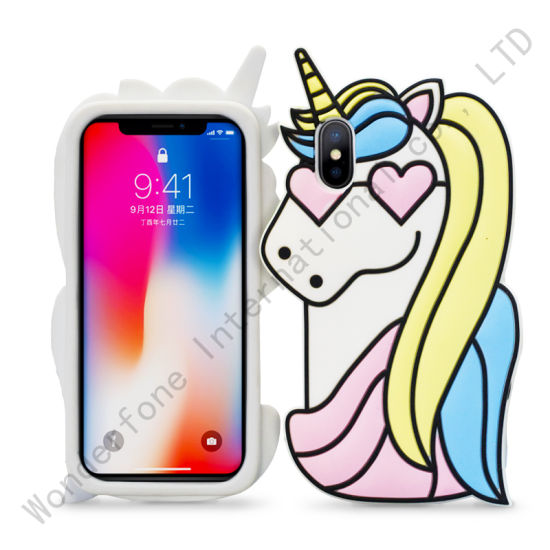 Hot Sale Pink Silicone Unicorn Cases for Moto G6 Plus