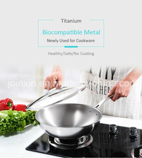 Green Cookware Titanium Alumnium Alloys Non-Stick Wok Frying Pan