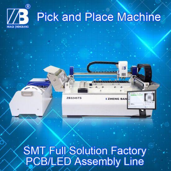 Advanced Chip Mounter Auto Calibrate SMT Pick and Place Machine Zb3245ts