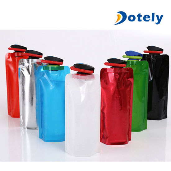 700ml Foldable Flexible Water Bottle Pouch Camping Hiking Sports Portable Kettle
