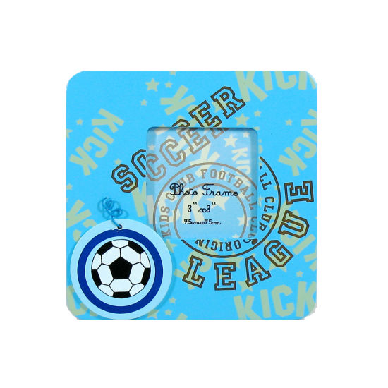 En71 Standard Football Wooden Magnet Photo Frame for Kids