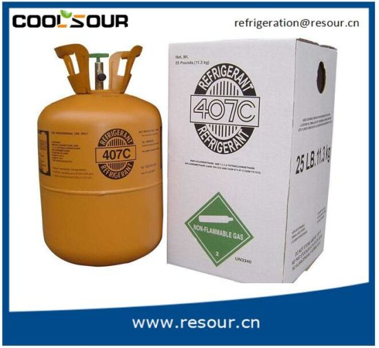 China Best Price for High Purity 99 99% Refrigerant Gas R407c