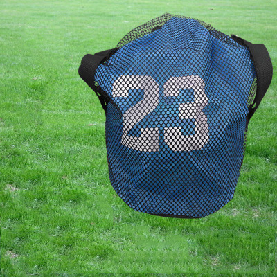 Basketball Bag Training Bag Mesh Bag Backpack Football Bag Drawstring Pocket Fitness Sports Bucket Bag