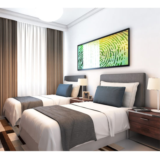 Economic Double Bed Hotel Bedroom Furniture for Three Star Hotel From Mingle Furniture