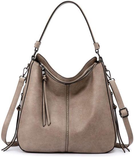 Hot Sell PU Vegan Leather Lady Fashion Designer Luxury Handbag Hobo Handbag for Women