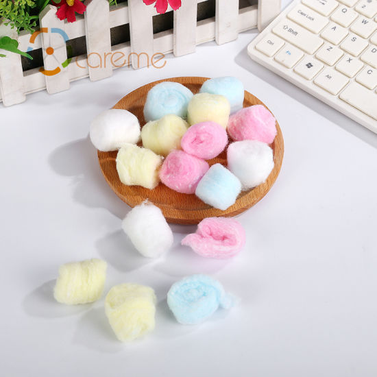 Wholesale Coloured Medical Disposable Pink Cotton Balls