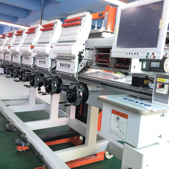WONYO Factory 8 Head Computerized/Cap/T Shirt Monogram Embroidery Machine with Tajima Software