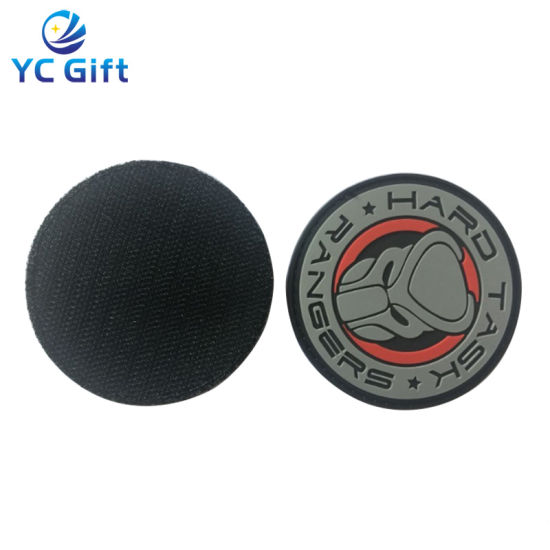 Customized PU Woven Label Clothing Label Printing PVC Rubber Patch Emblems Garment Accessories Rubber Badge (PT31)