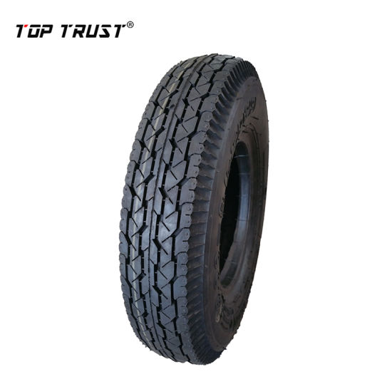 Motorcycle Tyre 4.00-8 with Good Wearing Resistance and Aging. Made in Car Tyre Manufacturing Plant.