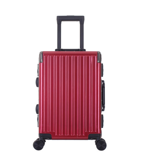China Factory High Quality PC Trendy Design Trolley Travel Suitcase (XHAF066)