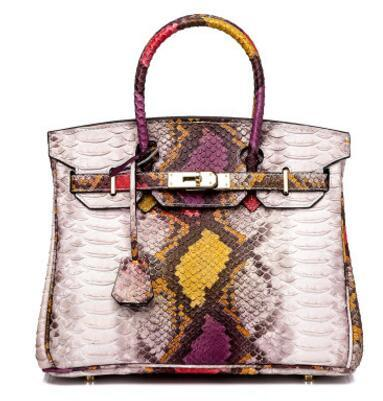Famous Designer Handbag Luxury Brikin Handbag Large Medium Mini Size Snake Skin Leather Bags Emg5583
