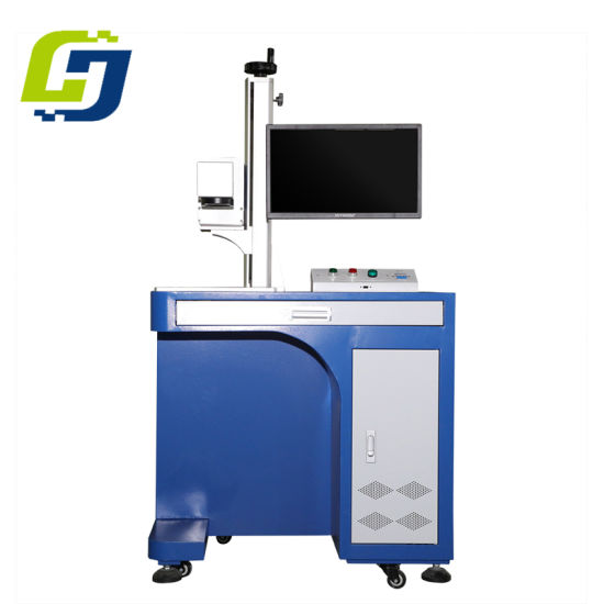 30W 60W RF Metal Desktop Galvos Scanner CO2 Laser Marking Machine for Plastic Button pictures & photos