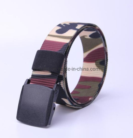 Tank Lines Camouflage Men Casual Waist Belt Nylon Fabric Belt