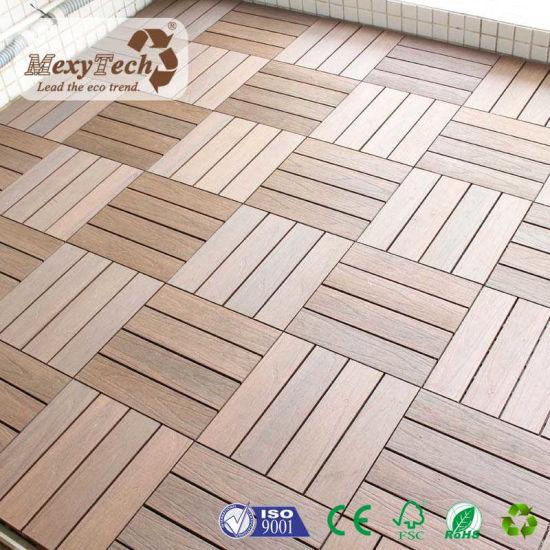 Wpc Interlocking Waterproof Deck Tiles