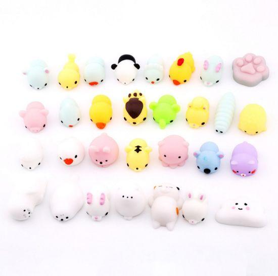 Mini Animal Squishy Toy 3D Kawaii Animals Eco-Friendly Soft Mochi Squeeze Squishy Cat Toys