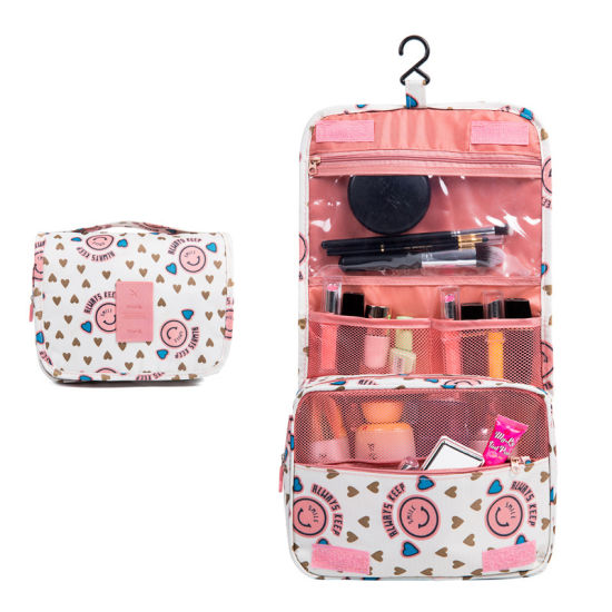 Waterproof Washed Wet Polyester Travel Makeup Cosmetic Toiletry Toilet Washing Bag