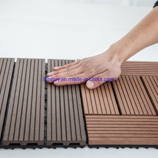 ISO DIY Outdoor Wood/Bamboo/WPC Decking Tiles