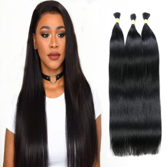10A Grade Quality Remy Human Hair Bulk Hair Silky Straight Bulk Human Hair Bundles pictures & photos
