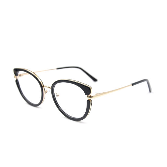 2020 Trend New Fashion Design Cat Eye Acetate Optical Frame Acetate Mix with Metal Eyewear 2021