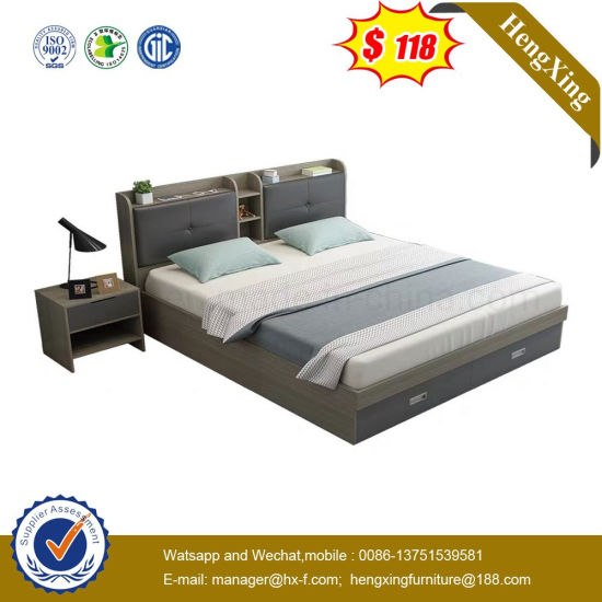 MDF Wooden Modern Living Room Apartment Double Hotel Bedroom Furniture (UL-9GD075)