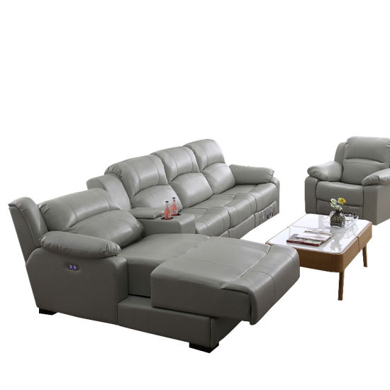 Movie Furniture Leather Recliner, Reclining Sofa, Recliner Single PU Sofa  Factory Hb115