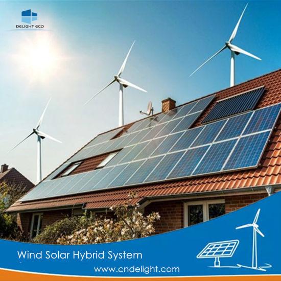 Delight Factory Vawt Pmg Solar Wind Hybrid Power Wind Turbine