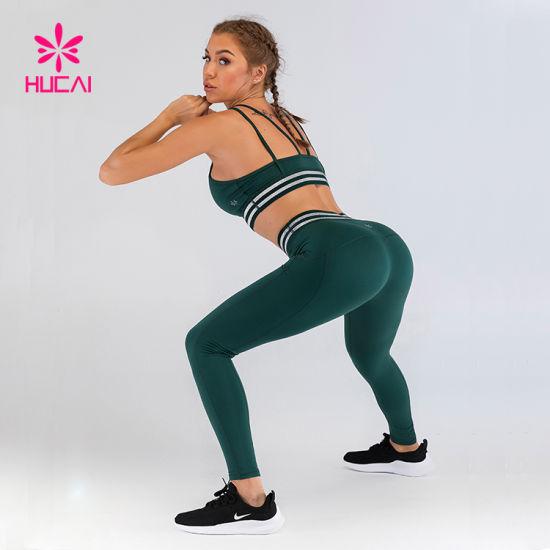 Wholesale Running Leggings Athletic Gym Sports Clothing Women Fitness Yoga Wear