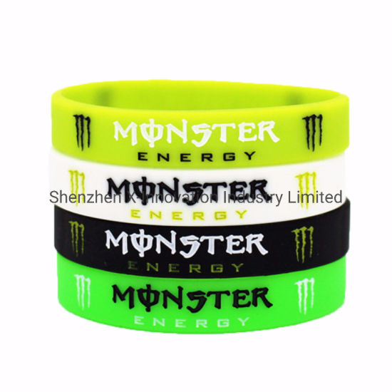 Custom Promotional Printed 1 Col Logo Silicone Wristband pictures & photos