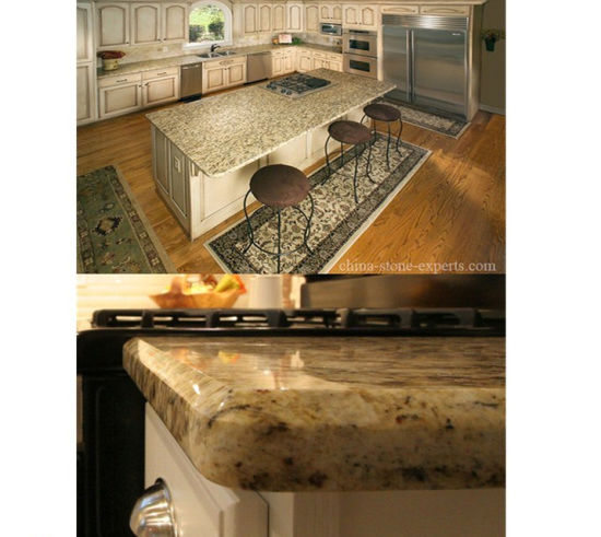 High Polished Giallo Ornamental Golden Granite Kitchen Countertop for Hotel