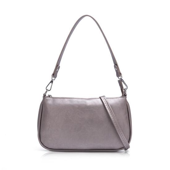 Wholesale Leather Briefcase Messenger Sling Bag PVC Single Color Women Shoulder Handbags From Copy Brand Factory 60062
