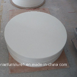 White Corian Acrylic Solid Surface Custom Sized Corian Dining Tabletop pictures & photos