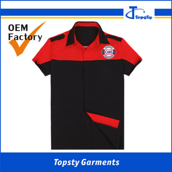 Custom Made High Quality Summer Work Uniform Cotton Work Shirts pictures & photos