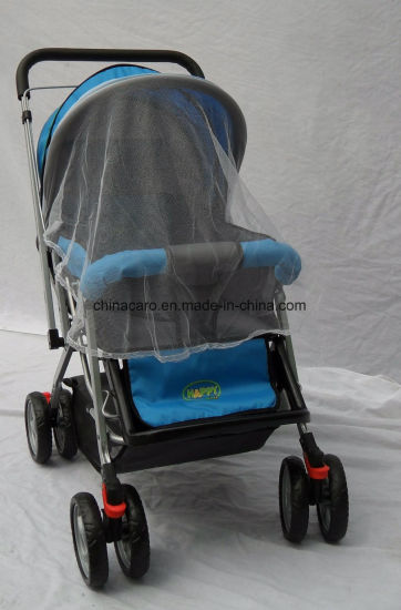 European Standard Fold Baby Stroller with Mosquito Net pictures & photos