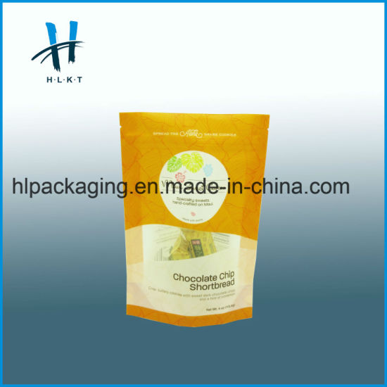 Custom Printed Stand up Pouch Food Garment Packaging Bag Plastic Bag Paper  Bag with Zip Lock