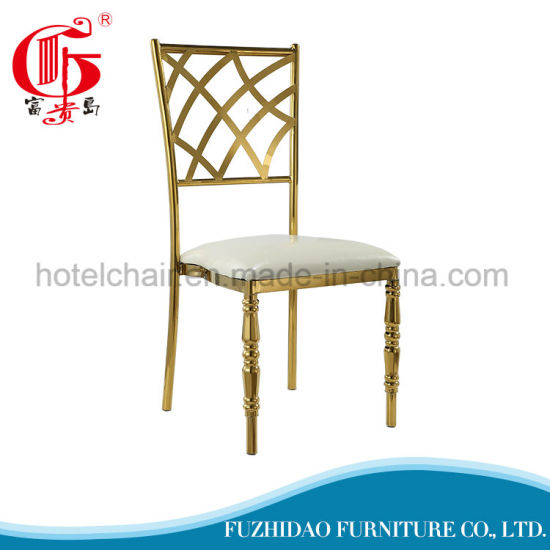Luxury Golden Plated Stainless Steel Dining Chair pictures & photos