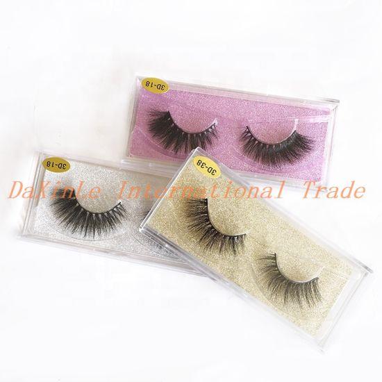 Qingdao Factory Custom Eyelash Package Offer Soft Silk 25mm 3D 5D False Eyelash