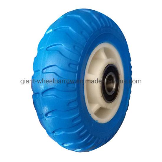6, 7, 8, 9, 10 Inches Hand Cart PU Foam Tire with Rim Chromed Plastic