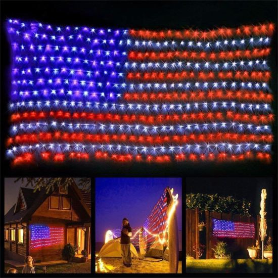 Outdoor Festival Decoration IP65 National Flag LED Net String Light pictures & photos