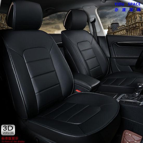 Car Decoration Car Accessories Cover Universal Black PU Leather Auto Car Seat Cushion