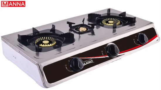 3-Burner Staniless Table Gas Stove