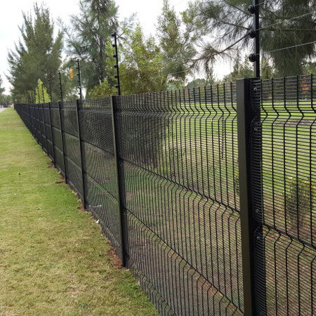 Black Powder Coated V Bend 358 Security Mesh Clear Vu Fencing