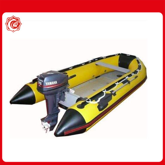 3.8 Meter Heavy Duty Rescue Inflatable Boat with Roll-up Aluminum Slat Floor pictures & photos