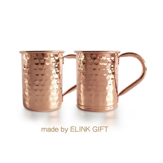Heavy Gauge Food Grade Stainless Steel Rose Gold Hammered Copper Mule Mug Cocktail Mugs
