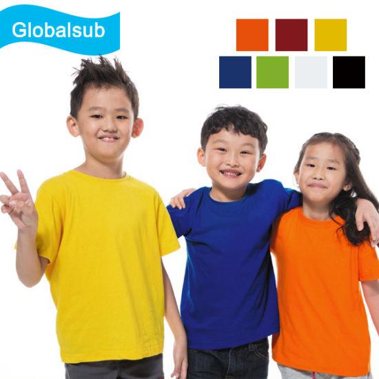Heat Press Sublimation Kid 100% Cotton T-Shirt