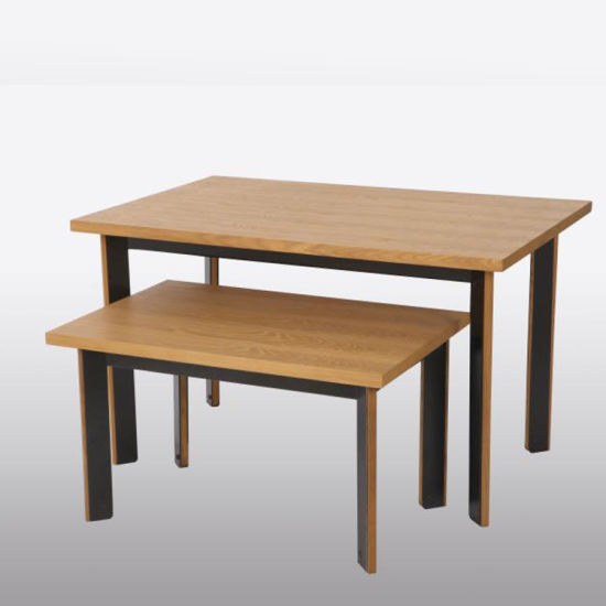 Nesting Table, Wooden Display Table for Shoes Retail Stores