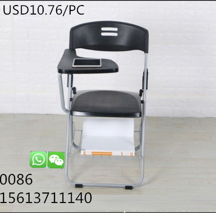 China Wholesale Cheap Plastic Chair Users with Writing Board Folding Chai