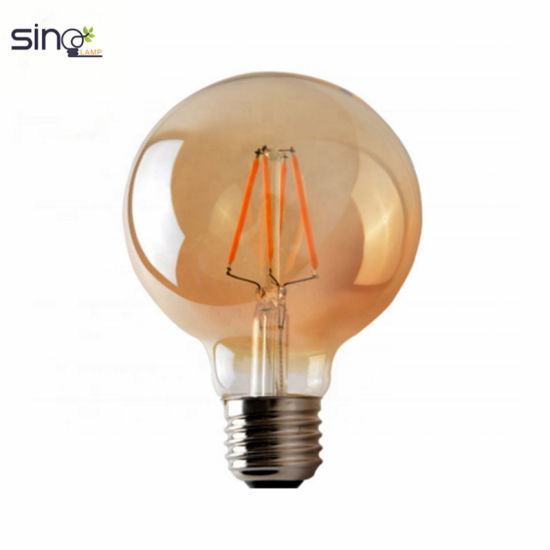 G95 LED Bulb, 4W LED Filament Lamp, AC220V AC110V or AC85~265V