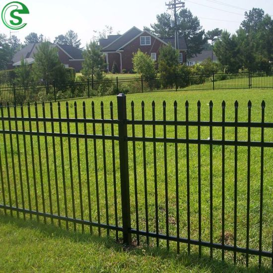 Low Cost Decorative Metal Fence for Perimeter of a Farm