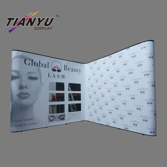 Floor Standing Pop up Display Promotion Display Stands Print Straight Fabric Stands