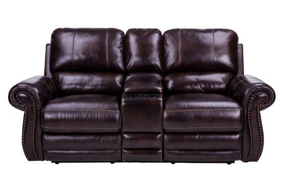 Home Furnishings Transitional Motion Cornersofa, Wipe off Leather Sofa